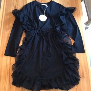 Black See By Chloe cotton dress with ruffles